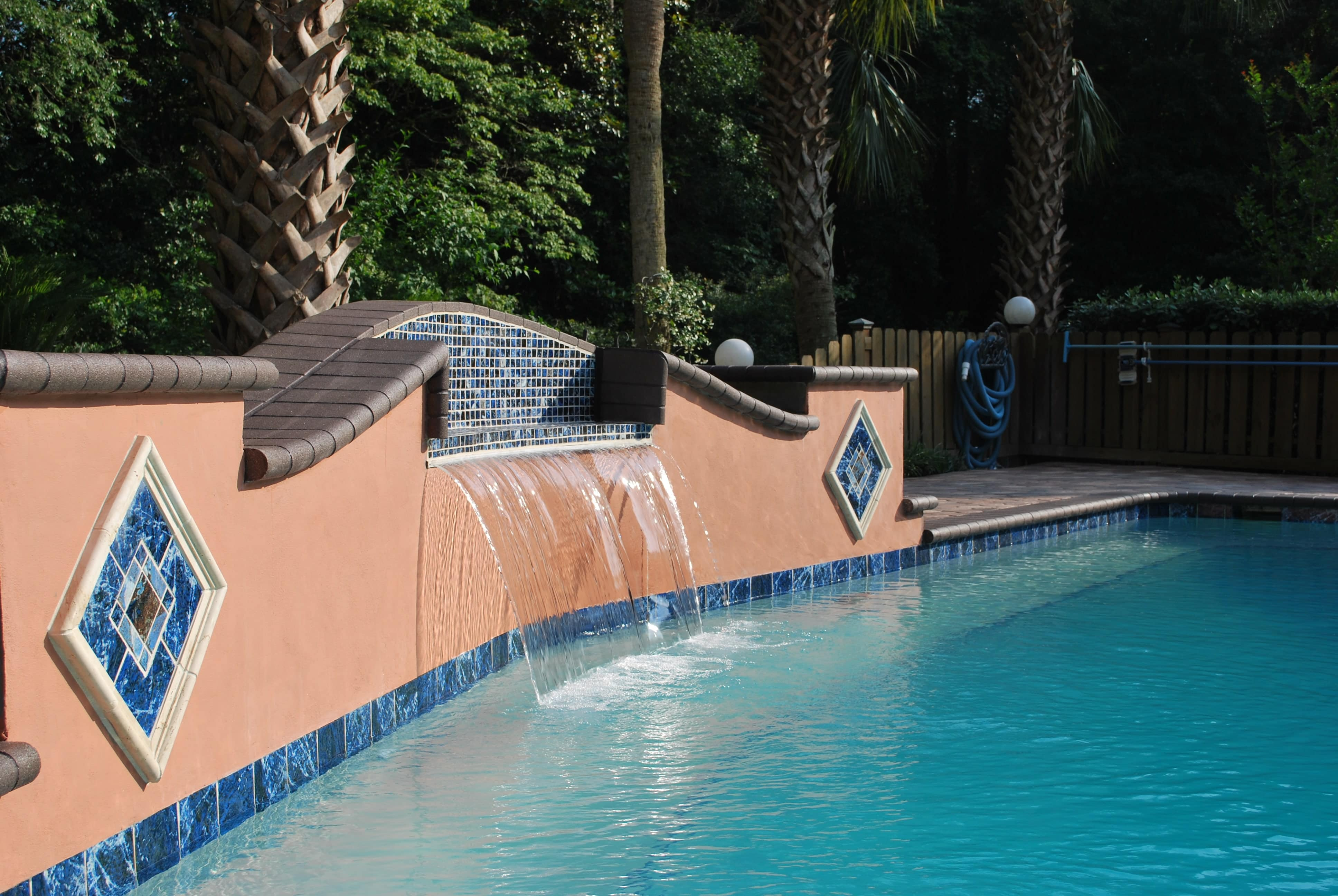 Water Feature with Stucco Finish